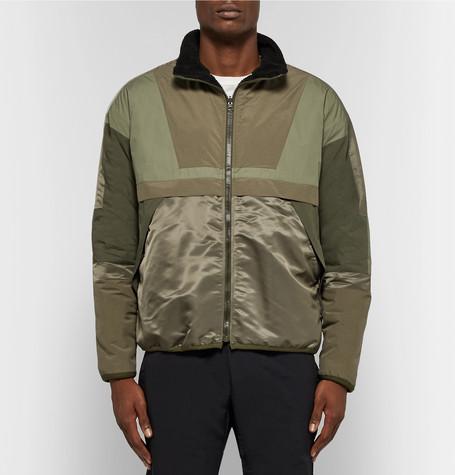 Reversible Cotton Fleece And Nylon Jacket by John Elliott