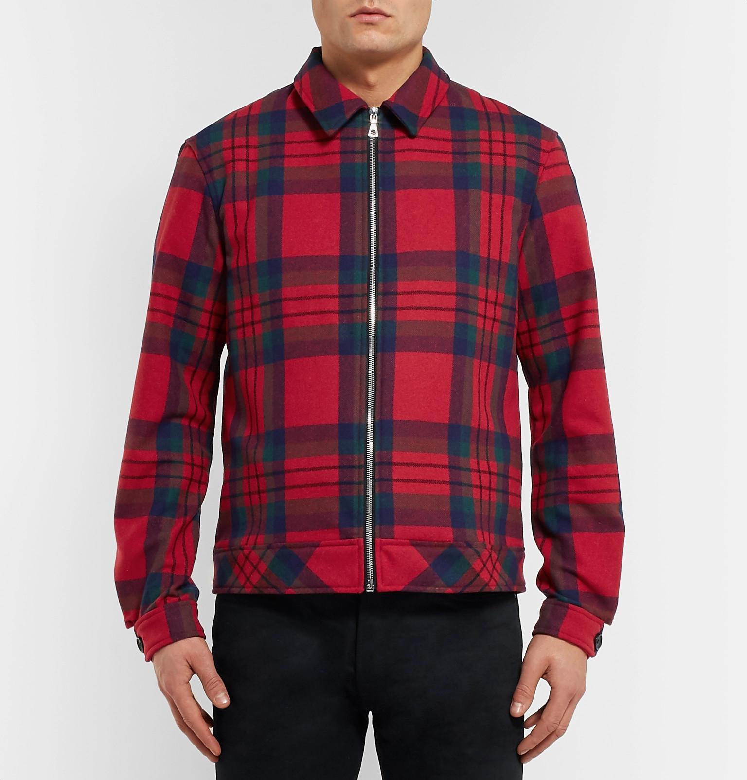 Wool Jacket Blouson Blend Elliottchecked John HwqXF4