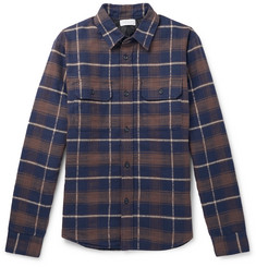 John Elliott - Checked Cotton-Flannel Padded Overshirt