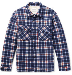 Noon Goons Faux Shearling-Lined Checked Felt Overshirt
