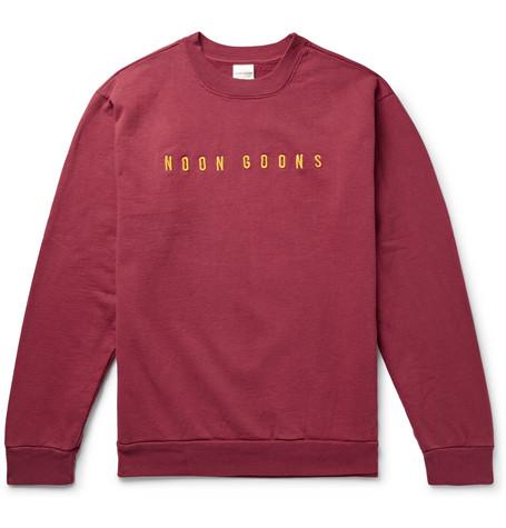 Cotton back Logo Noon Burgundy Sweatshirt Fleece Goons jersey embroidered wqXIq