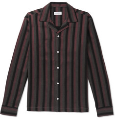 Saturdays NYC Marco Frequency Camp-Collar Striped Woven Shirt