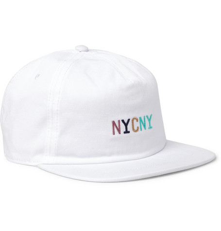 6ae7eb96ecc Saturdays Surf Nyc Stanley Embroidered Cotton-Twill Baseball Cap - White -  One Siz