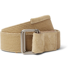 nonnative - Gardener Suede-Trimmed Woven Cotton Belt