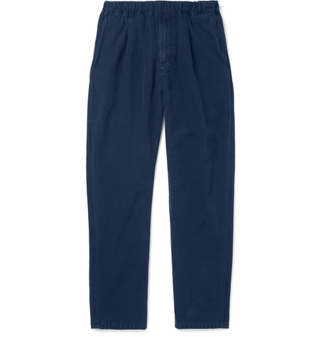 NONNATIVE Manager Cotton-Faille Drawstring Trousers