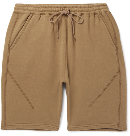 NONNATIVE Coach Loopback Cotton-Blend Jersey Shorts