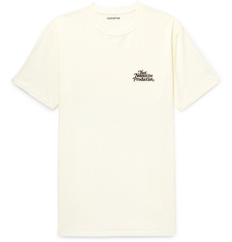 NONNATIVE Embroidered Cotton-Jersey T-Shirt