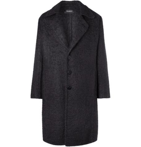 Black Neil Overcoat Textured Barrett Woven 7xCqxtTwE