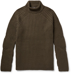 Neil Barrett - Ribbed Wool-Blend Rollneck Sweater