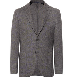 Officine Generale Grey Houndstooth Wool Blazer