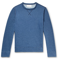Officine Generale Mélange Fleece-Back Cotton-Jersey Sweatshirt