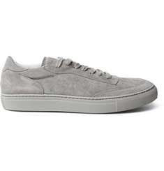 Officine Generale Matt Perforated Suede Sneakers