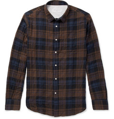 Officine Generale Checked Stretch-Cotton Shirt