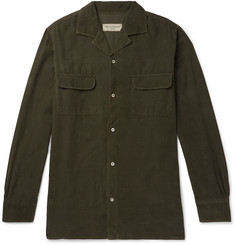 Officine Generale Dario Garment-Dyed Cotton-Corduroy Shirt
