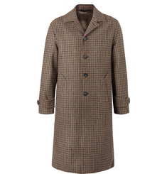 Officine Generale Serge Puppytooth Wool Coat