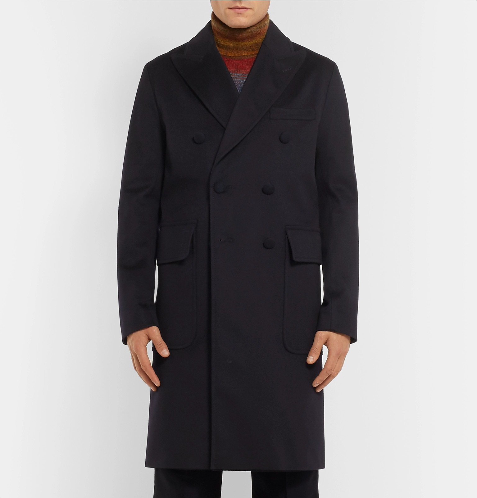 Overcoat Officine Generale Wool Double Breasted System Storm wBAFwqz