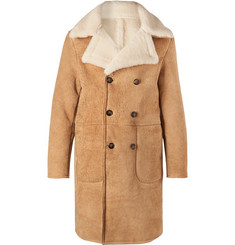 Officine Generale Arnie Double-Breasted Shearling Coat