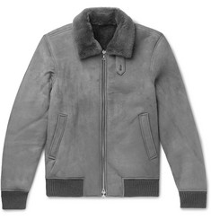 Officine Generale Shearling Bomber Jacket