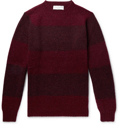Officine Generale Striped Shetland Wool Sweater