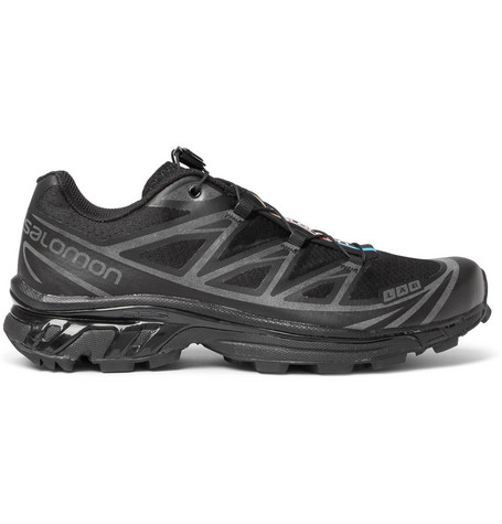SALOMON S/Lab Xt-6 Softground Mesh And Rubber Running Sneakers - Black