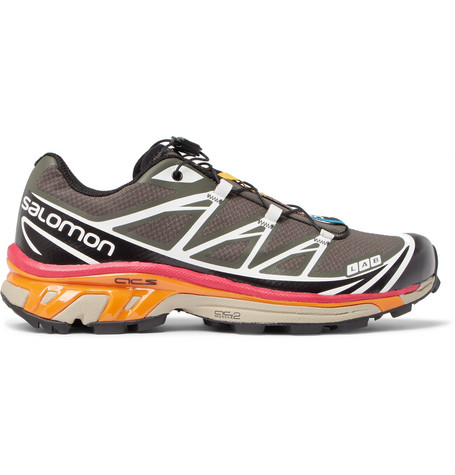 SALOMON S/Lab Xt-6 Softground Mesh And Rubber Running Sneakers - Gray
