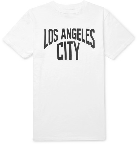 VELVA SHEEN Slim-Fit Printed Slub Cotton-Jersey T-Shirt - White