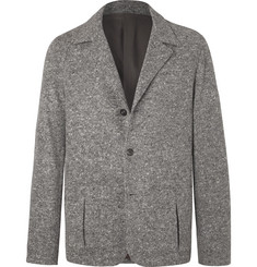 Camoshita Grey Unstructured Mélange Wool-Blend Blazer