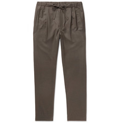 Camoshita Tapered Pleated Wool Drawstring Trousers