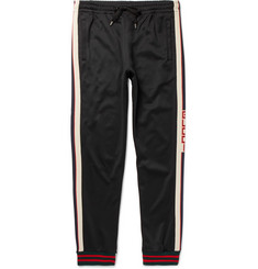 Gucci Striped Tech-Jersey Sweatpants