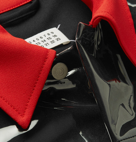 Pvc Panelled Gabardine Trucker Jacket by Maison Margiela