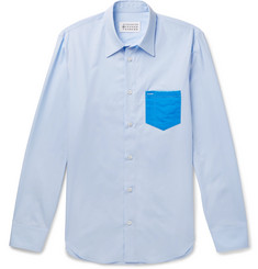 Maison Margiela - Slim-Fit PVC-Trimmed Cotton-Poplin Shirt