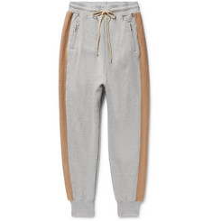 John Elliott Striped Loopback Cotton-Jersey Sweatpants
