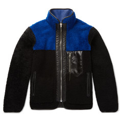 Aries Reversible Shearling and Leather Jacket