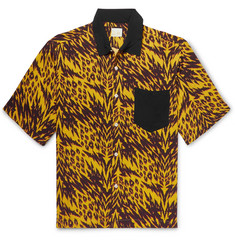 Aries - Camp-Collar Printed Woven Shirt