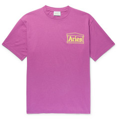 Aries Logo-Print Cotton-Jersey T-Shirt