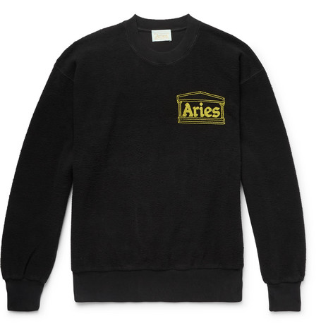 ARIES LOGO-PRINT COTTON-TERRY SWEATSHIRT