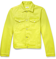 CMMN SWDN Brandon Neon Denim Jacket