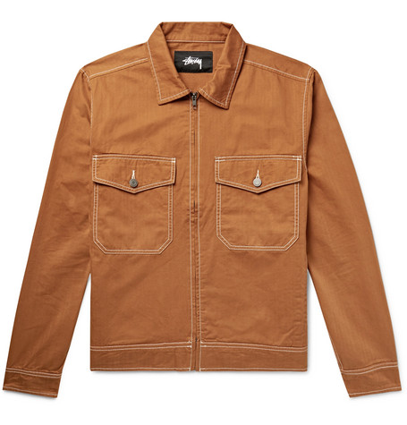 Herringbone Cotton Jacket by Stüssy