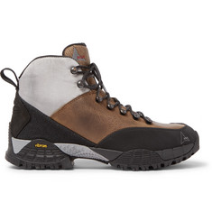 ROA - Andreas Rubber and Shell-Trimmed Distressed Nubuck Hiking Boots
