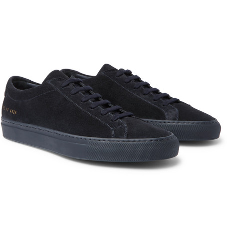 more photos aa9af 579c9 Common Projects Original Achilles Suede Sneakers In Navy