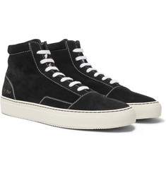Common Projects - Cap-Toe Suede High-Top Sneakers
