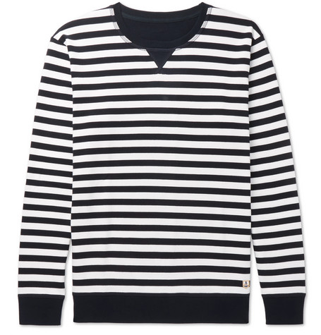 ARMOR LUX STRIPED COTTON-JERSEY SWEATSHIRT