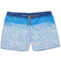 Thorsun Clay Slim-Fit Mid-Length Printed Swim Shorts