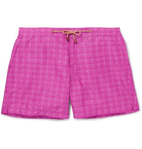 THORSUN Slim-Fit Mid-Length Printed Swim Shorts