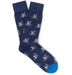 Paul Smith Stretch Cotton-Blend Socks