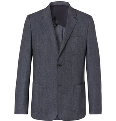 Mr P. - Navy Prince of Wales Checked Wool and Cotton-Blend Blazer