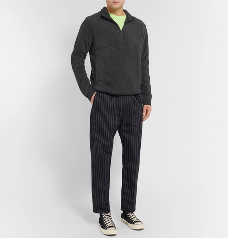 Contrast Trimmed Polartec Fleece Half Zip Sweater by Reigning Champ