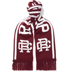 Reigning Champ - Fringed Intarsia-Knit Scarf