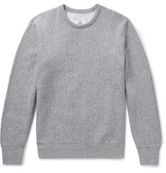 Reigning Champ Mélange Fleece-Back Cotton-Blend Jersey Sweatshirt