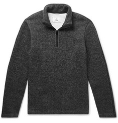 Reigning Champ Mélange Fleece-Back Cotton-Blend Jersey Half-Zip Sweatshirt